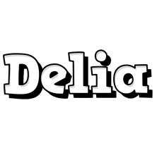 Delia snowing logo
