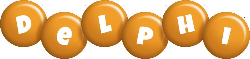 Delphi candy-orange logo