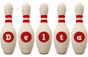 Delta bowling-pin logo