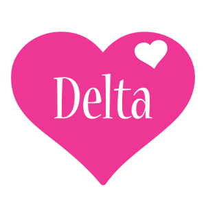 Delta love-heart logo