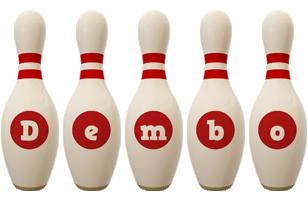 Dembo bowling-pin logo