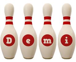 Demi bowling-pin logo