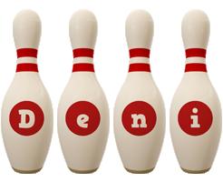 Deni bowling-pin logo