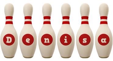 Denisa bowling-pin logo
