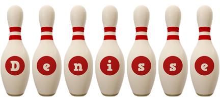 Denisse bowling-pin logo