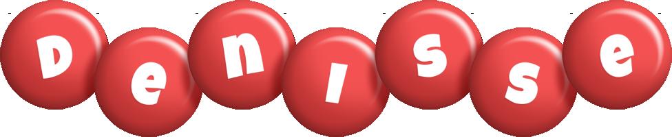 Denisse candy-red logo