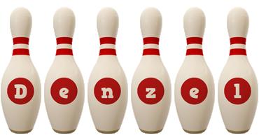 Denzel bowling-pin logo