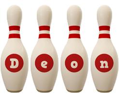 Deon bowling-pin logo