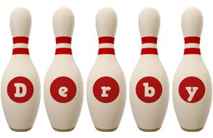 Derby bowling-pin logo