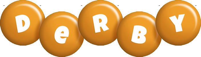 Derby candy-orange logo