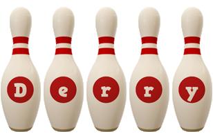 Derry bowling-pin logo
