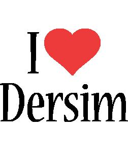 Dersim i-love logo