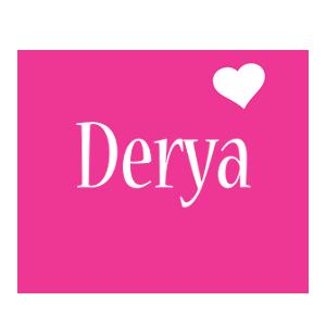 Derya love-heart logo