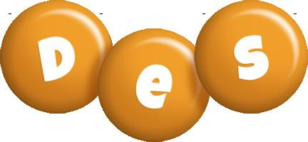Des candy-orange logo