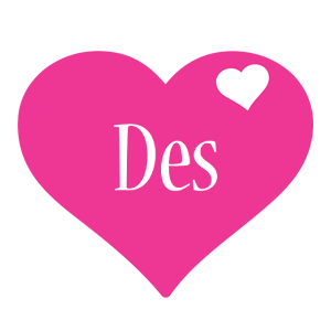 Des love-heart logo