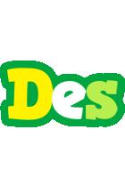 Des soccer logo