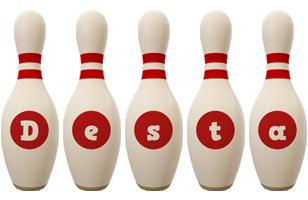 Desta bowling-pin logo
