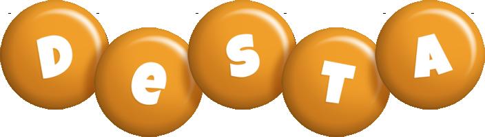 Desta candy-orange logo
