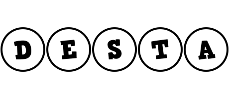 Desta handy logo