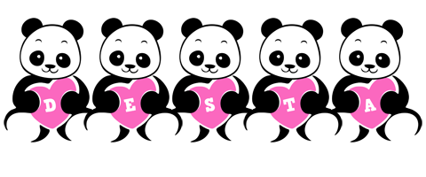 Desta love-panda logo