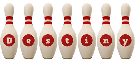 Destiny bowling-pin logo