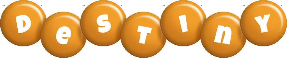 Destiny candy-orange logo