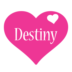 Destiny love-heart logo