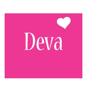 Deva love-heart logo
