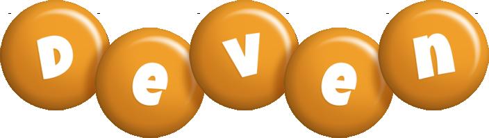 Deven candy-orange logo