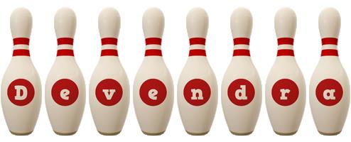 Devendra bowling-pin logo