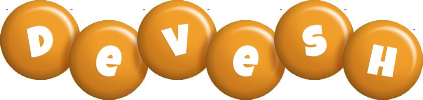 Devesh candy-orange logo