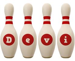 Devi bowling-pin logo