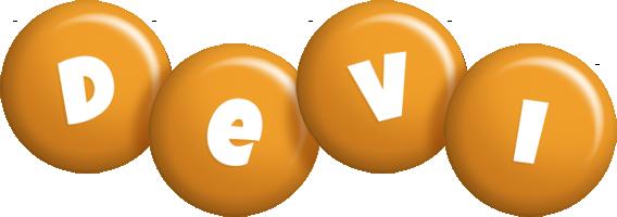 Devi candy-orange logo