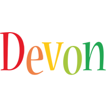 Devon birthday logo