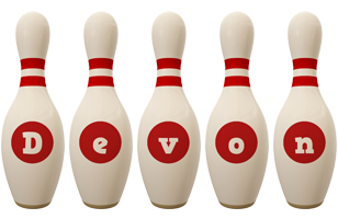 Devon bowling-pin logo