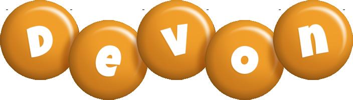 Devon candy-orange logo