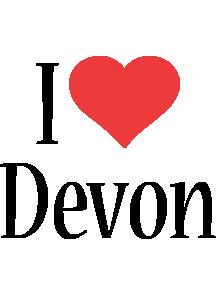 Devon i-love logo