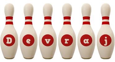 Devraj bowling-pin logo