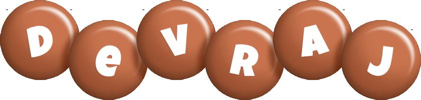 Devraj candy-brown logo