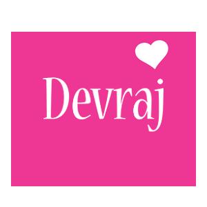 Devraj love-heart logo