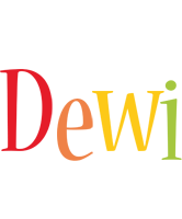 Dewi birthday logo