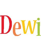 Dewi birthday logo