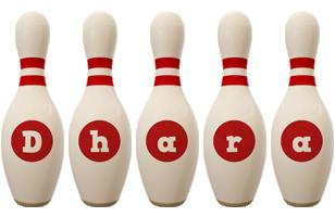 Dhara bowling-pin logo
