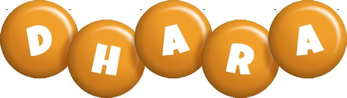 Dhara candy-orange logo