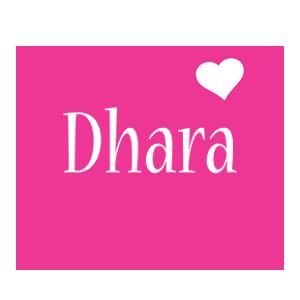 Dhara love-heart logo