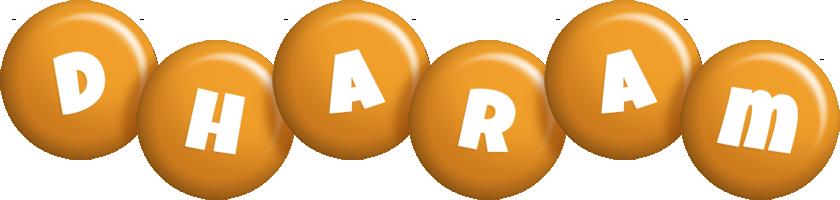 Dharam candy-orange logo