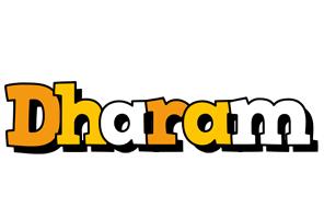Dharam cartoon logo