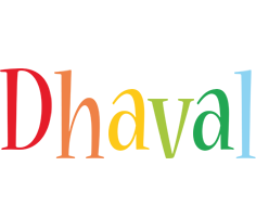 Dhaval birthday logo