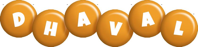 Dhaval candy-orange logo