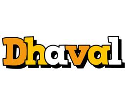 Dhaval cartoon logo